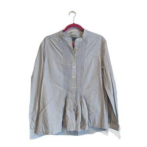 Poetry Long Sleeve Button Front Blouse 12 Blue